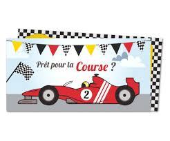 invitation anniversaire voiture de course planet cards com