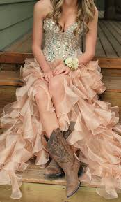 high low wedding dress with cowboy boots country style wedding dresses with cowboy boots wedding dresses