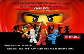 ninjago birthday invitations ninjago birthday invitations