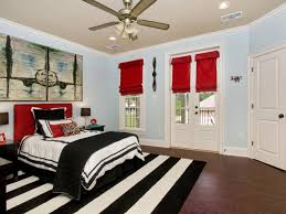 Custom  Black And Red Living Room Ideas Design Inspiration Of - Red and cream bedroom designs