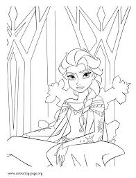 frozen elsa ice castle coloring