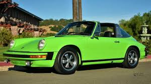 1974 porsche 911 targa lime green youtube