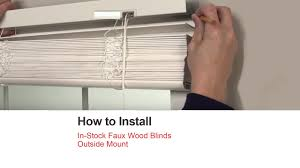 bali blinds how to install in stock faux wood blinds outside