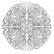swirling leaves relaxing mandala coloring page favecrafts com