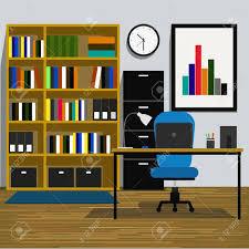 chambre de travail espace de travail interior office chambre avec livres étagère