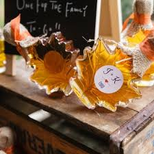 fall wedding favor ideas yellow fall wedding favors white simple glasses classic creative