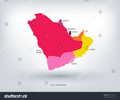 gulf logo vector gulf countries new colorful map vector stock vector 331891424