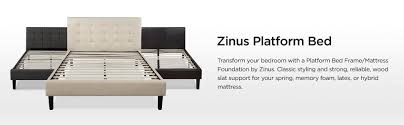 Platform Bed Frame Sears - amazon com zinus upholstered button tufted platform bed with