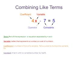 combining like terms and the distributive property objectives