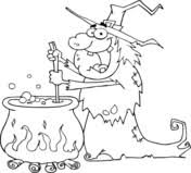 crazy frog coloring page crazy witch with black cat holding a frog and preparing a potion