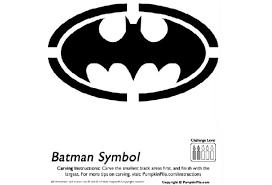 6 images free printable batman pumpkin carving stencils