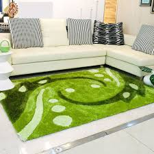 Green Modern Rug Modern Pastoral Bedroom Pallor Carpet Green Scenic Decorative
