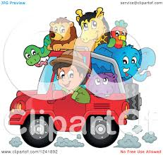 christmas jeep clip art clipart of a happy safari man driving a jeep full of animals
