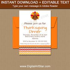 instant invitations thanksgiving template digital