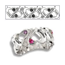mothers ring 6 stones endless s ring sterling silver jewelers