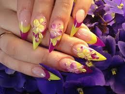 acrylic paint nails design nail art styling