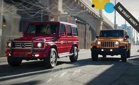 compare jeep wranglers 2012 jeep wrangler unlimited rubicon vs 2012 mercedes g550