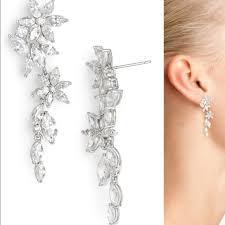nadri earrings 46 nadri jewelry floral linear drop earrings from