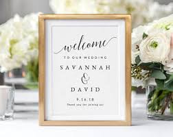 Welcome Table Diy Wedding Sign Etsy