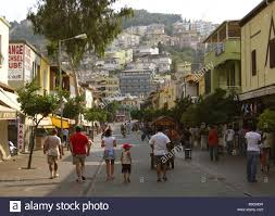 turkey alanya pedestrian precinct tourists mediterranean coast