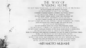 miyamoto musashi way of walking alone wallpaper by griffin cost