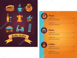 italian restaurant menu design u2014 stock vector marish 11465199