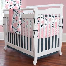 Preppy Crib Bedding Nursery Beddings Coral Navy And Gold Baby Bedding Together With