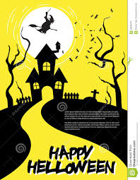 haunted house clipart free halloween flyer stock vector image 58949733