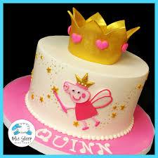 peppa pig birthday cakes quinn s princess peppa cake blue sheep bake shop