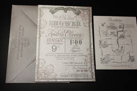 Vintage Bridal Shower Invitations Bridal Shower And Save The Date Invitations