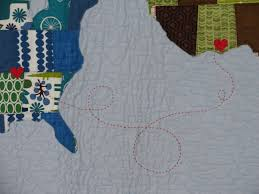 Map Quilt Bird In Hand Quilts Custom Handmade Quilts And Gifts
