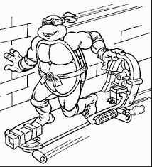 magnificent ninja turtles skateboard coloring pages with ninja