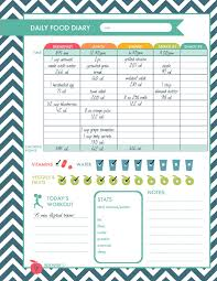 weight loss planner template printable fitness logs colorful cover page daily food diary page weight loss progress chart menu planner