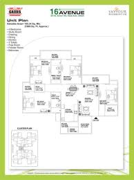 floor plan gaur city 2 at noida extension v square group noida