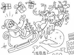 santa coloring pages with reindeer babsmartin com babsmartin com