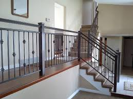 Home Depot Banisters Stairs Marvellous Stair Rails Indoor Stairway Rails Indoors