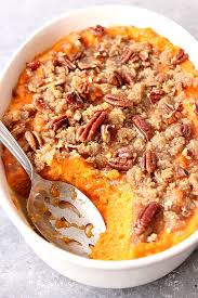 the best easy sweet potato casserole recipe card crunchy