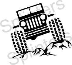 jeep art jeep on the rocks svg file