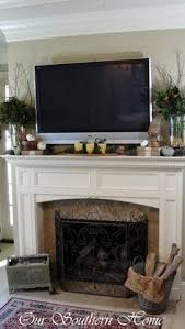 Decorations Tv Over Fireplace Ideas by Decorating A Mantel With A Tv Above Mantels Decorating And Tvs