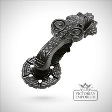 black iron handcrafted pretty door knocker door knockers