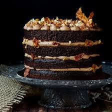this chocolate bacon cake is a showstopper chocolate stout sponge