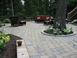 paver patio edging options pavers around concrete patio icamblog