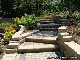 Terraced Retaining Wall Ideas by Agape Retaining Walls Inc Terrace Photo Album 1