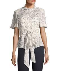 print blouse sleeve tie waist print blouse neiman