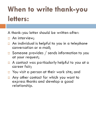 tutorials write thank you letter after an interview thank you letters ppt video online download