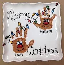 Preschool Holiday Crafts - christmas handprint plates google search handprint craft for