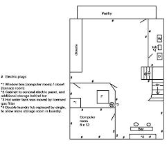 laundry floor plan the basement renovation the floor plan thumb and hammer