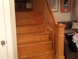 refinishing gold oak stairs