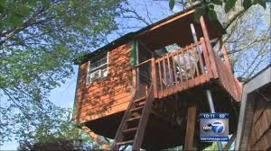 Real Treehouse Schaumburg Treehouse Leads To Zoning Meeting Abc7chicago Com