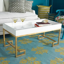 lacquered tray greek key coffee table with a deep rim lacquered
